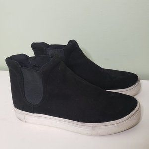 H&M • black pull-on high-top sneakers boots 38